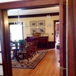 The dining room at the Lang House