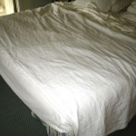 Fold down the top of the bedspread
